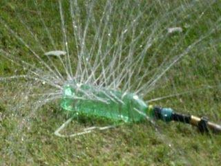 Plastic bottle sprinkler