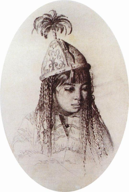 kyrgyz girl / киргизская девушка. Vereshchagin / Верещагин