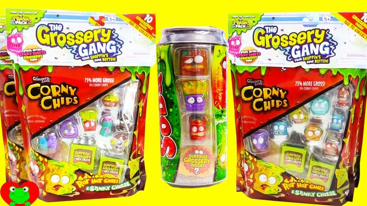 Grossery Gang Sticky Soda and Corny Chips Surprise Toys Pinterest Watches, Chips and Sodas