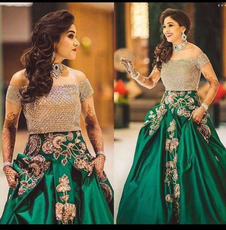 Green Gown For An Eid