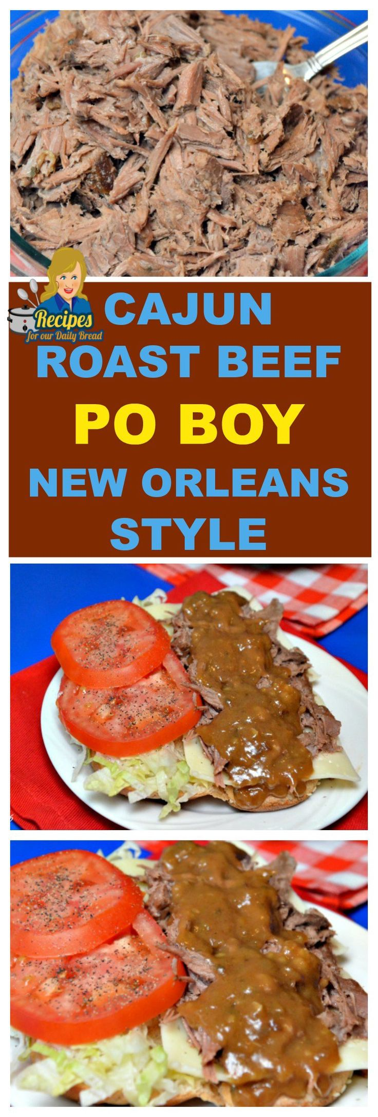 CAJUN ROAST BEEF PO-BOY NEW ORLEANS STYLE  If you love New Orleans food, you have landed on the perfect post.  The first time I had a Roast Beef Po Boy was while living in New Orleans.  They made the Best Roast Beef sandwich ever.  I had to try to duplicate it.  SEE FULL RECIPE HERE: http://recipesforourdailybread.com/roast-beef-po-boy-new-orleans/