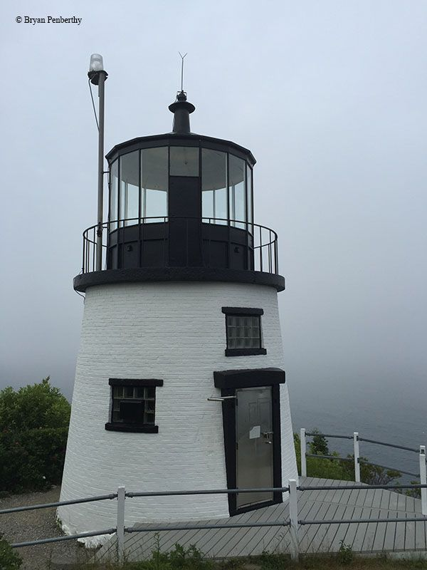High atop a rocky promontory in West Penobscot Bay, marking the south side of the entrance to Rockland Harbor stands the Owls Head Lighthouse. Some say the lighthouse may be haunted.