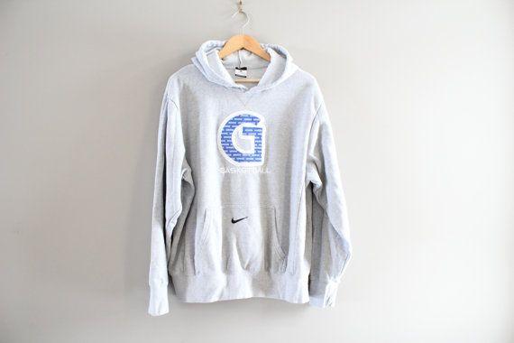 Nike Sweatshirt Grey Hoodies Crewneck Pullover Big by Amilialia