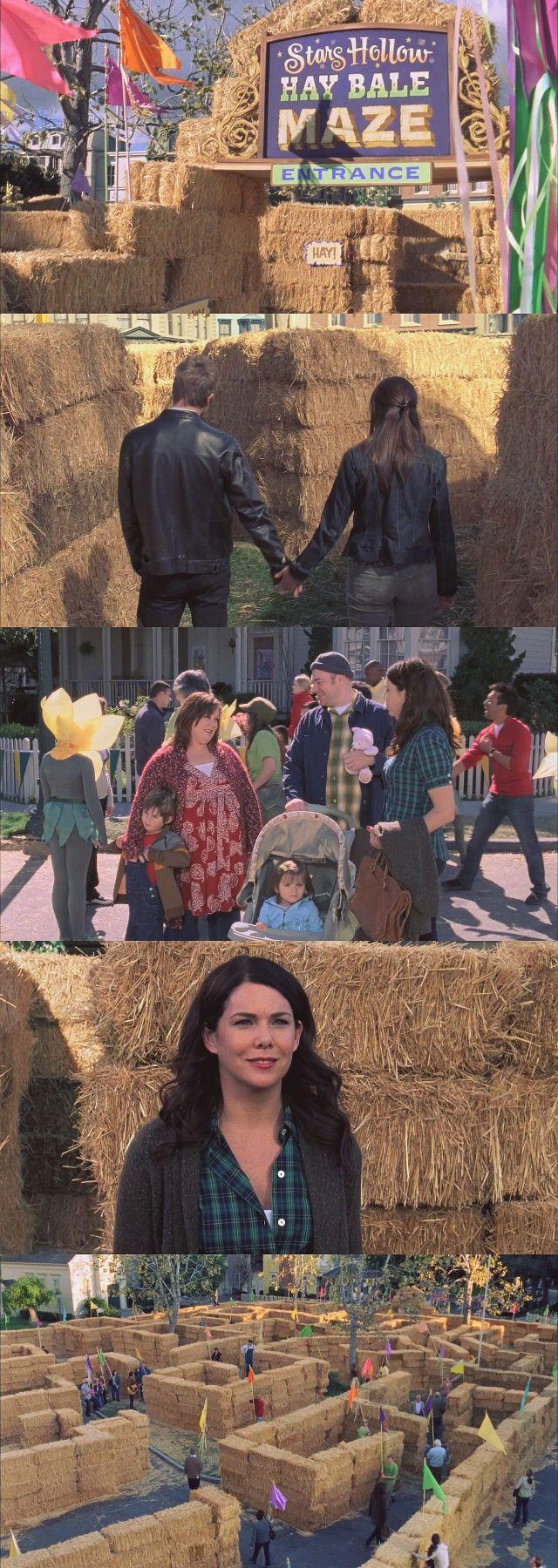 Gilmore Girls S07E18: Hay Bale Maze
