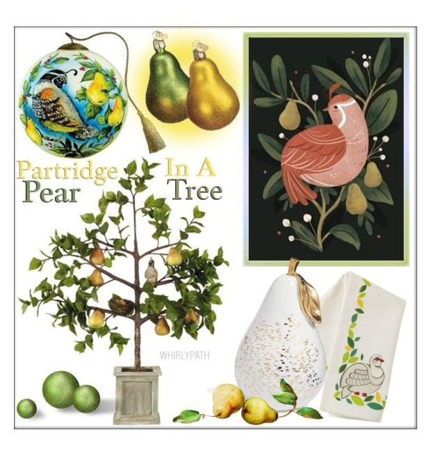 A Partridge In A Pear Tree by whirlypath on Polyvore featuring interior, interiors, interior design, home, home decor, interior decorating and kitchen