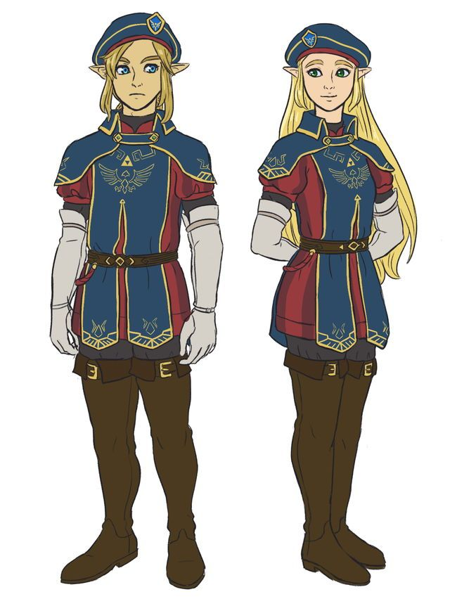 Royal Guard outfit (Link & Zelda versions) | Breath of the Wild DLC
