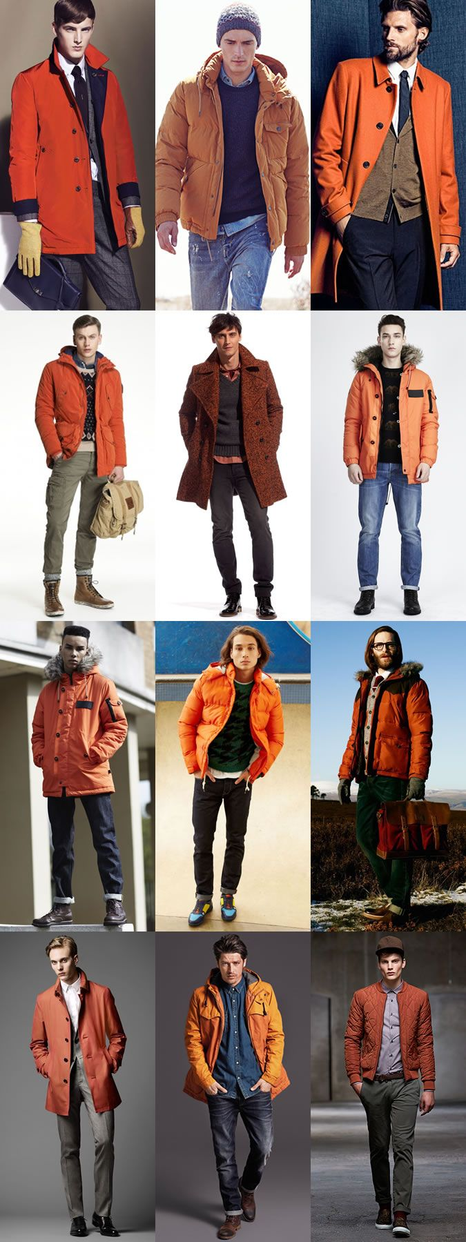 3 Ways To Wear 2014's Winter Orange Trend: 2. Outerwear Lookbook Inspiration