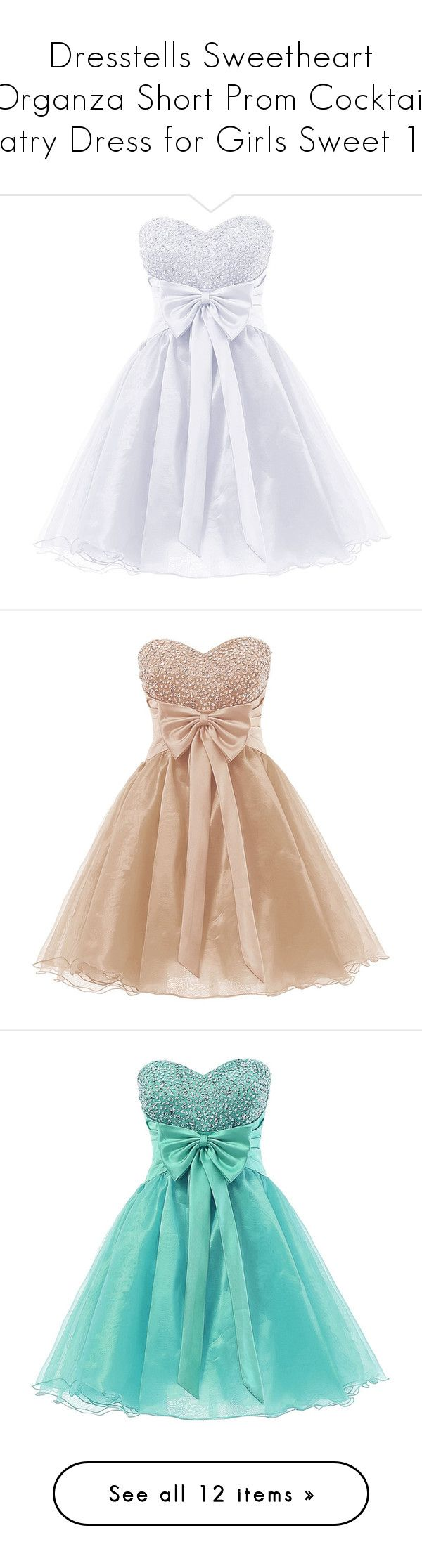 """""""Dresstells Sweetheart Organza Short Prom Cocktail Patry Dress for Girls Sweet 16"""" by cami-berrene ❤ liked on Polyvore featuring dresses, short dresses, mini cocktail dress, short homecoming dresses, sweetheart neckline cocktail dress, holiday cocktail dresses, holiday dresses, cocktail dresses, homecoming dresses and prom dresses"""