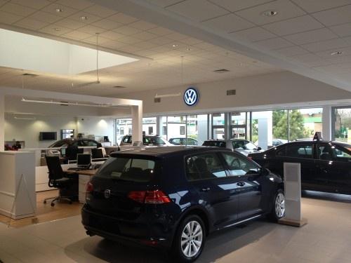 VW New Brand Volkswagen Showroom