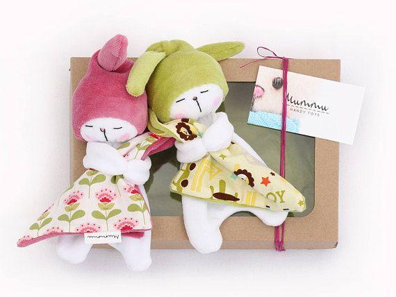 Sleepy Bunnies Baby Set: Two Sleepy Bunnies / Bunny Plushies