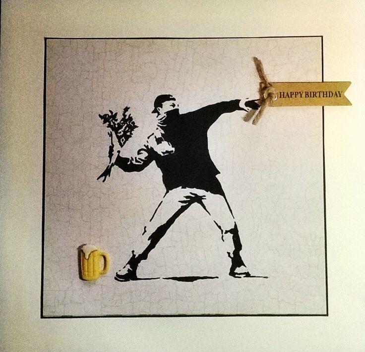 Banksy inspired birthday card