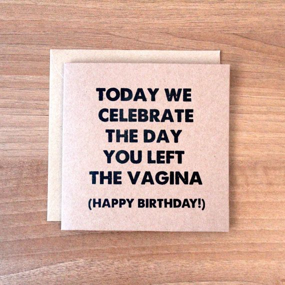 Funny / Rude Birthday Card Today We van GreySquirrelDesigns op Etsy