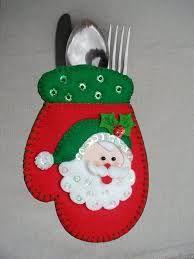 Resultado de imagen para portacubiertos  de muñeco de nieve navideños moldes