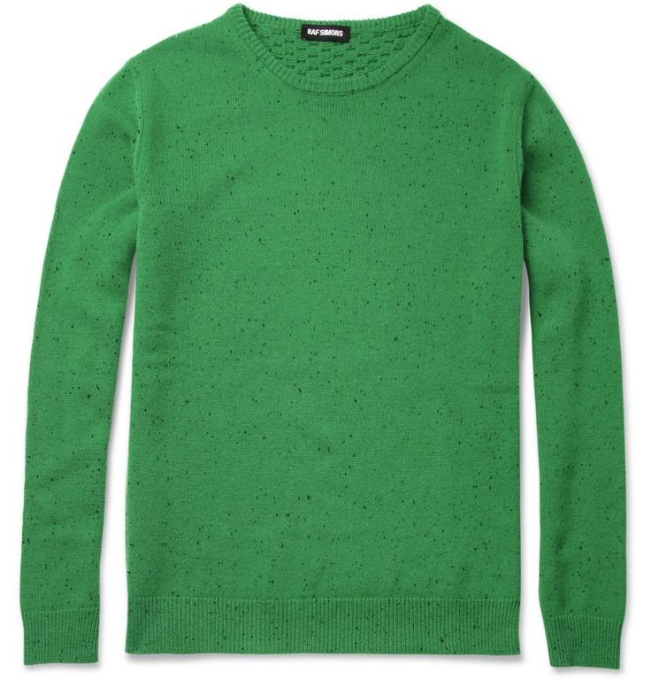 Raf SimonsWaffle Knit-Back Merino Wool Sweater