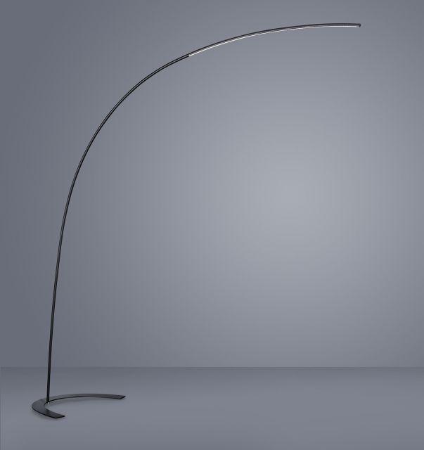 SHANGHAI Trio - stojanová LED lampa - 2100mm/1800lm - čierna