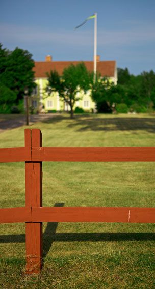 rött staket