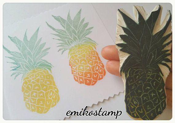 Check out this item in my Etsy shop https://www.etsy.com/listing/489249972/large-pineapple-stamp-hand-carved