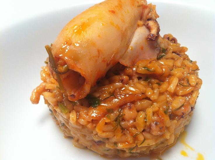 Calamari risotto in perfect shape!