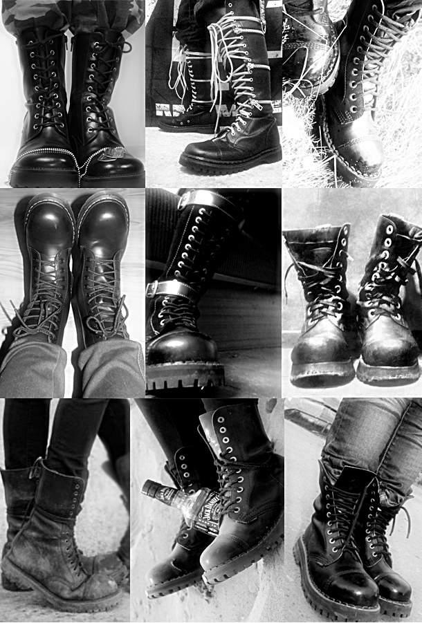 Solovair and Dr.Martens. BOOOOTS are a girls best friend.