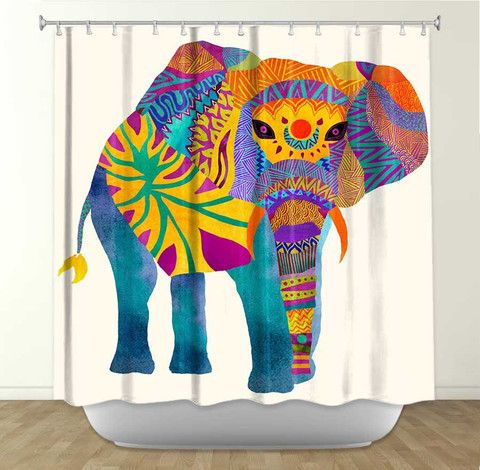 17 Best images about ANIMAL SHOWER CURTAINS on Pinterest | Rainbow ...