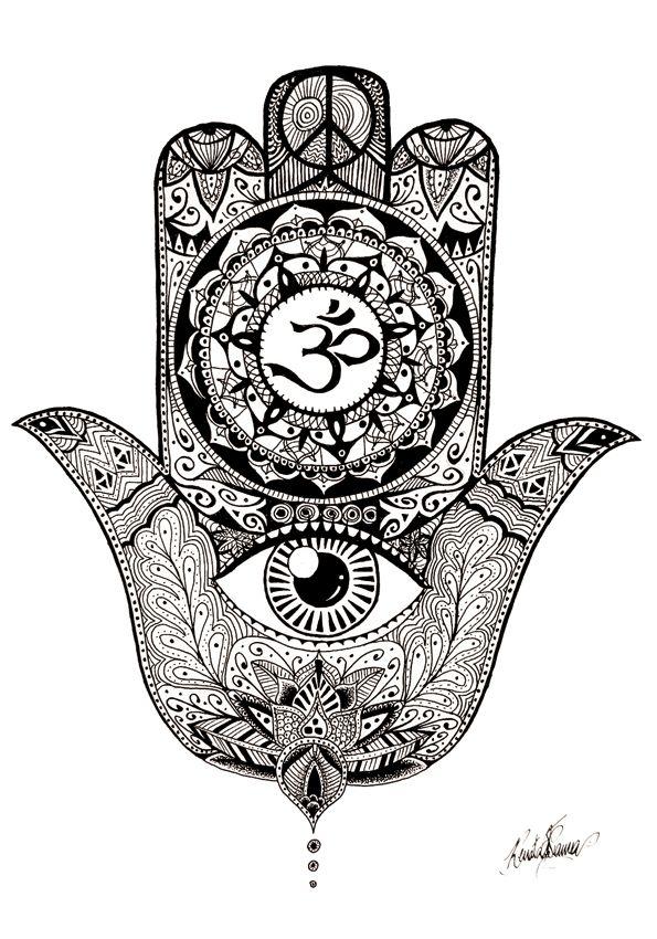 19 best Khamsa images on Pinterest   Fatima hand, Evil eye ...