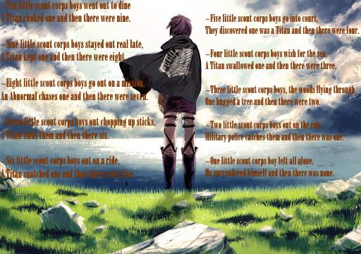 """Ten Little Scout Corps Boys.... based off of the """"Ten Little Soldier Boys"""" Poem by Frank Green. My sister, @kourtyb02 and I did this."""