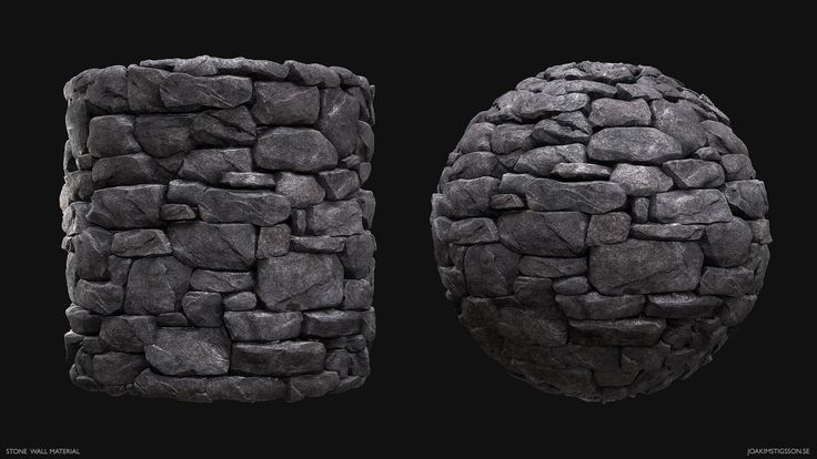 Stone Wall Material, Joakim Stigsson on ArtStation at https://www.artstation.com/artwork/q29YN