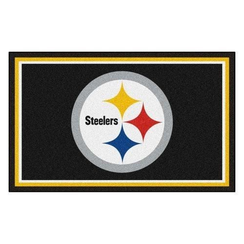 19 X 30 NFL Steelers Door Mat Printed Logo Football Themed Sports Patterned Bathroom Kitchen Outdoor Carpet Area Rug Gift Fan Merchandise Vehicle Team Spirit Gold Black Blue Red Nylon