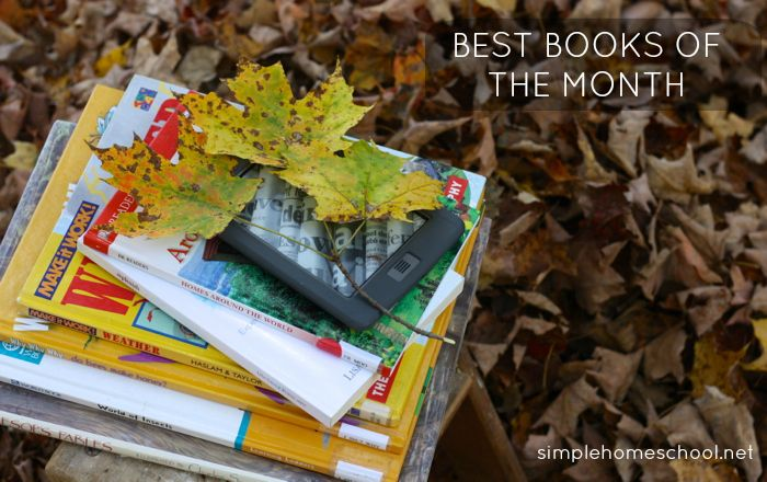 Best books of the month ~SimpleHomeschool.net