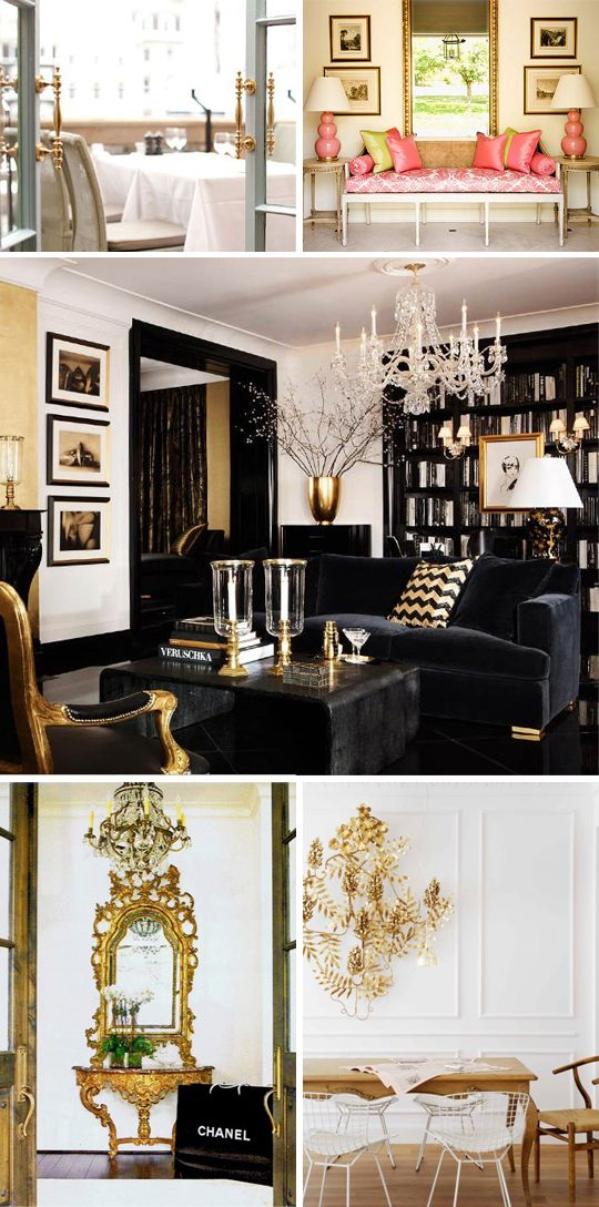 How to Decorate with Gold- little more white and this would be perfect
