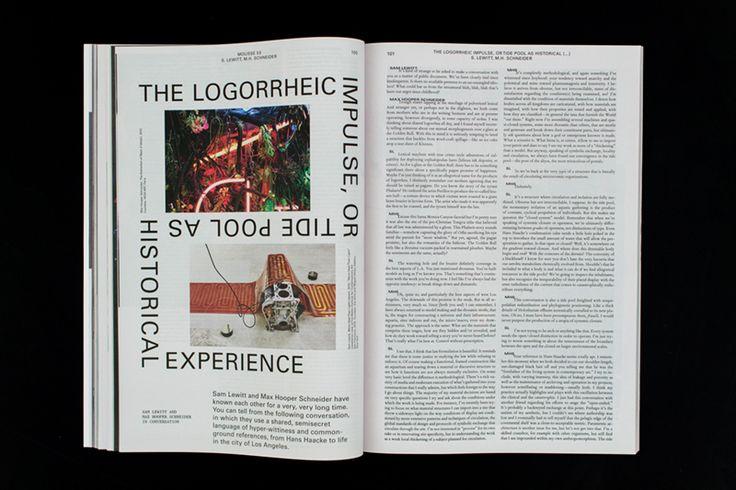 Mousse #Magazine #53 ~ #samlewitt #maxhooperschneider #conversation  #art #contemporaryart #magazine #moussemagazine