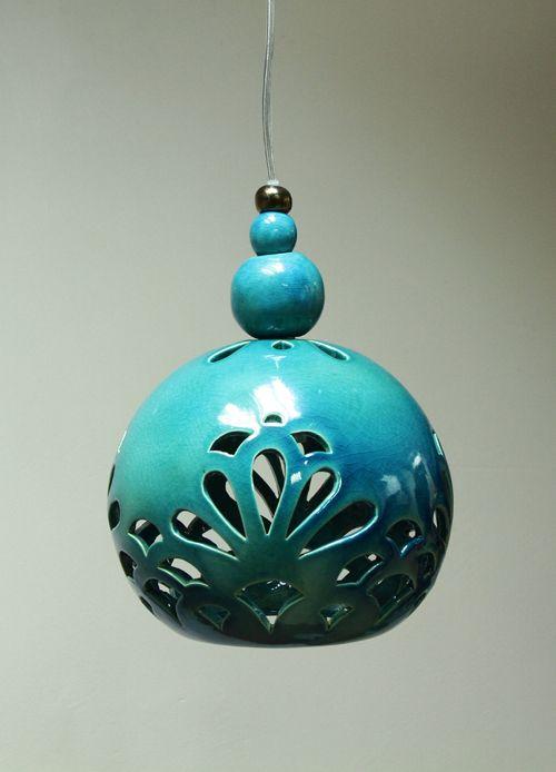 """ceramic lamp """"ORIENTAL DREAM """" design by joanna bylicka"""