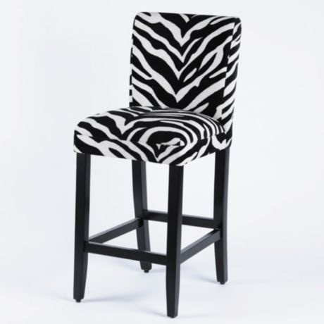 Zebra Parsons Bar Stool Bar Stool Stools And Zebra Stuff