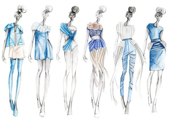 Fashion Illustrations - Collections by Dalia Lopez, via Behance