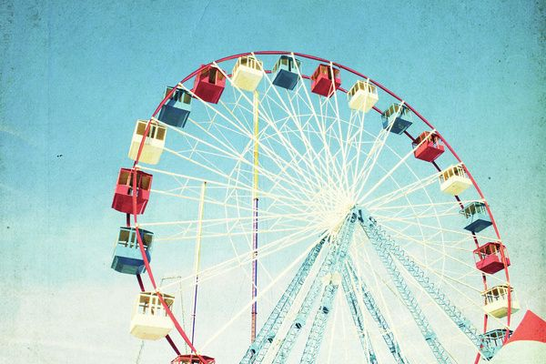 Ferris Wheel Art Print by Minagraphy | Society6