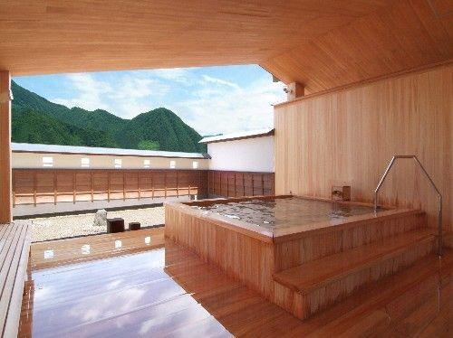 Inamoto Ryokan 'rotemburo' heated outdoor spa bath