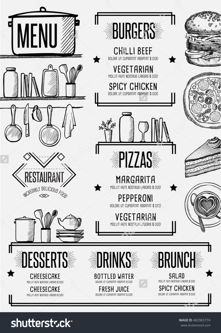 321 best Can I see the menu? images on Pinterest | Menu layout ...