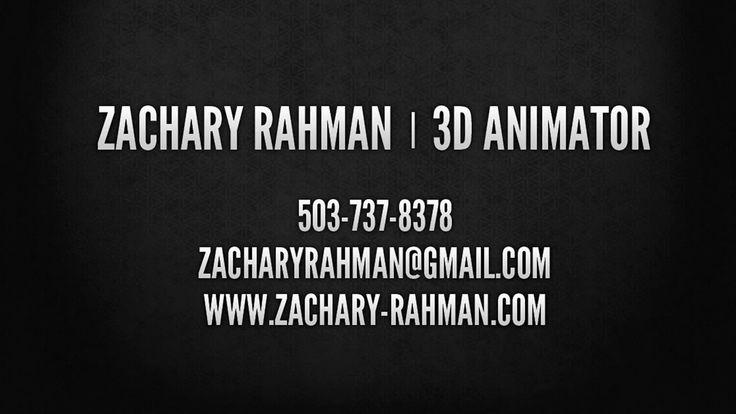 Zachary Rahman - 3D Animator