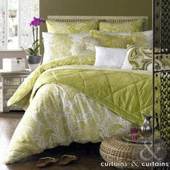 Luxury Persian lime green #duvet, lovingly designed by Elizabeth Hurley!