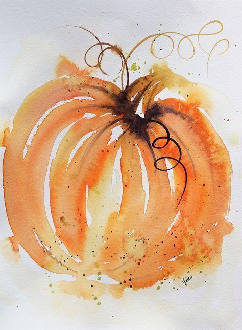 Kürbisse malen. Damit du denkst, ich überspringe gerade Herbst- und Kürbiszeit, um