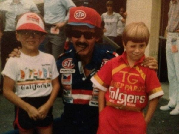 Eric McClure ‏    The King & I (with my cousin.) Circa 1984. The King was one of my racing heroes