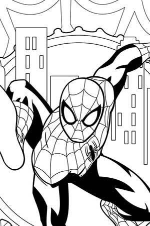 marvel heroes coloring pages spiderman - photo#43