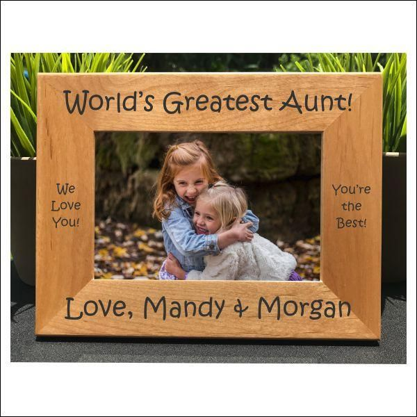 World's Greatest Aunt // Personalized Engraved Photo Frame // Picture Frame // Gift