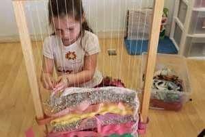 I like this idea, ribbon loom, I think our kids would like this :) Reggio Emilia Preschool Classroom - Bing Images