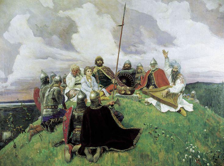 Виктор Васнецов. Баян. Victor Vasnetsov. The Bard Bayan.