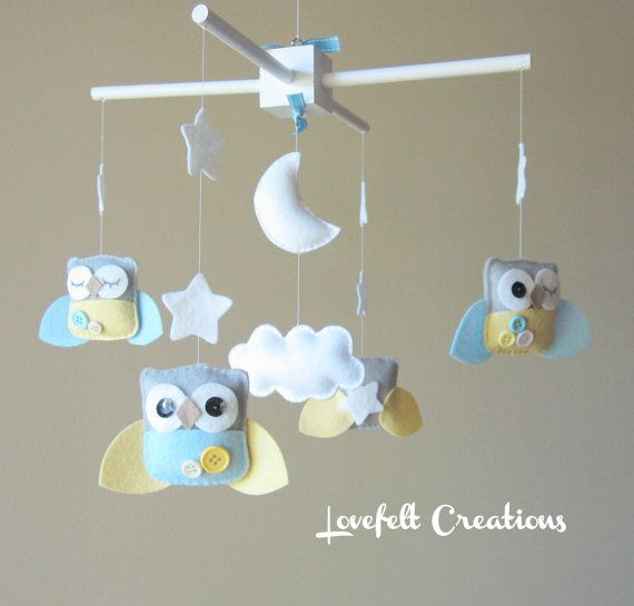 Baby Mobile  Owl Baby Mobile  Mobile Owls  Nursery by LoveFeltXoXo, $99.00