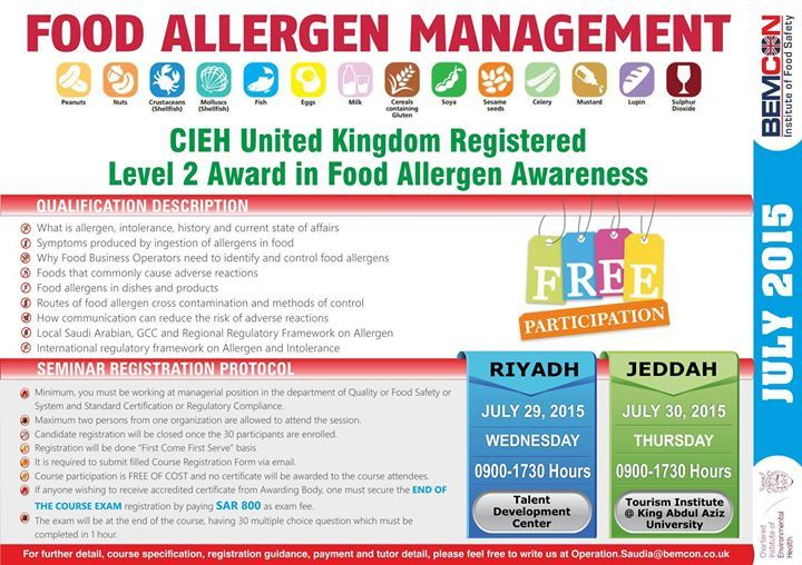 Food Allergen Management