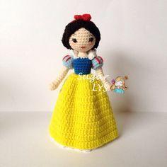 Crochet Amigurumi Snow White – Disney Princess ༺✿ƬⱤღ www.pinterest.com….