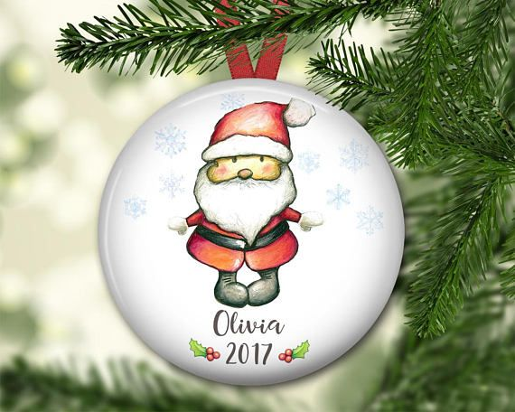 personalized Christmas ornaments for kids baby's first