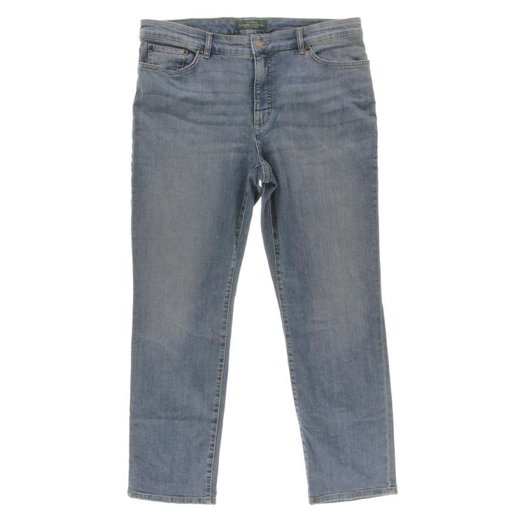 Lauren Jeans Co. Womens Slimming Fit Baked Creases Slim Jeans